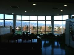 病棟ロビーからの風景は、なかなか良い。