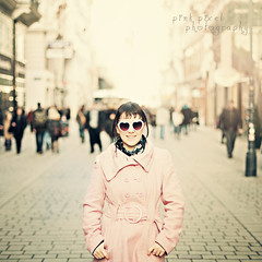 Winter must be cold for those with no warm memories~ (Pink Pixel Photography (f.k.a. Sunny)) Tags: vienna pink me downtown bokeh shades sunnywinterday longingforspring heartshapedglasses longcoldwinter