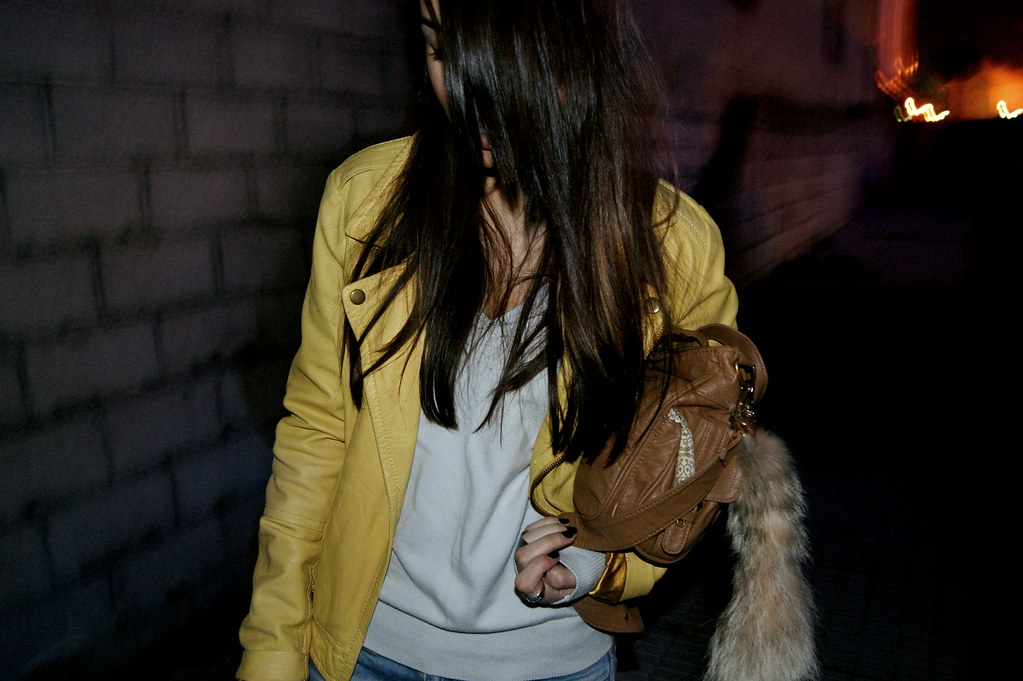 yellow leather