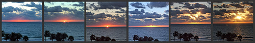 sunset collage