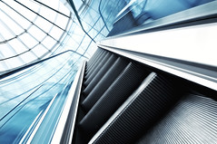 (deNNis-grafiX.com) Tags: city motion berlin lines architecture modern speed interior innenarchitektur escalator wideangle bewegung scifi architektur stufen rolltreppe linien gettyimagesgermanyq1