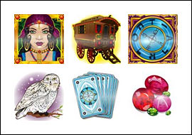free Tarot Treasure slot game symbols
