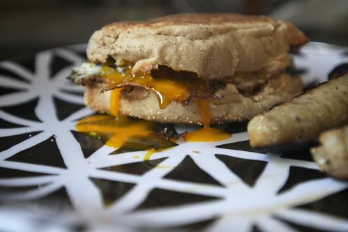 Egg Sandwich & Chicken Apple Sausage