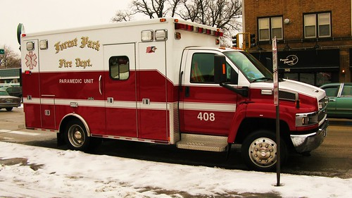 Forest Park Fire Department Chevrolet Paramedic Ambulance # 408. Forest Park Illinois USA. Wednsday, January 18th, 2011. by Eddie from Chicago