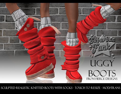 UGGY BOOTS RED