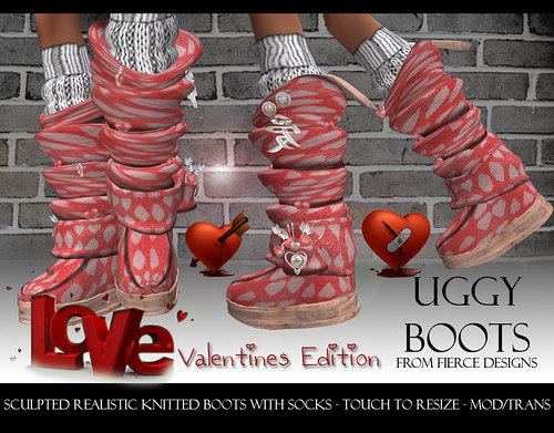 UGGY BOOTS VALENTINES RED