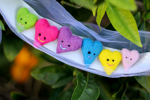 Felted Heart Pins