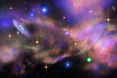 Deep Space 25 (mtnrockdhh) Tags: light water glass stars experimental led galaxy nebula laser dust deepspace johnnyoptic orthogonalstarburstfilter hullbullrst