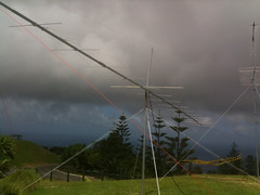 "VK9NA antennas at Mt Pitt, Norfolk Island • <a style=""font-size:0.8em;"" href=""http://www.flickr.com/photos/10945956@N02/5377042670/"" target=""_blank"">View on Flickr</a>"