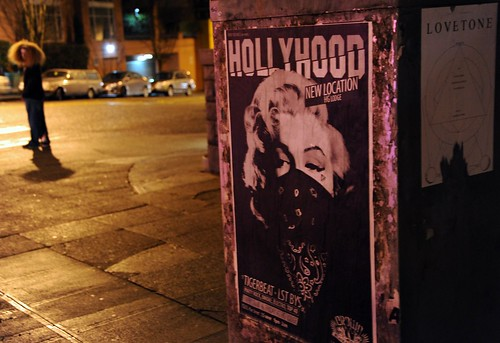 Hair, posters: HOLLYWOOD Marilyn Monroe gangster, LOVETONE, Capital Hill, Seattle, Washington, USA by Wonderlane