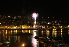 New Year 2011 (Dr Tarek) Tags: england river fire cornwall waterfront celebration celebrations devon works dartmouth drtarek yahoo:yourpictures=landscape yahoo:yourpictures=waterv2 yahoo:yourpictures=reflectionsv2