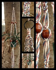Vintage Americana Macram Plant Hanger (Macramaking- Natural Macrame Plant Hangers) Tags: plants plant green industry kitchen vintage garden happy idea beads nc spring pretty basket sink herbs recycled handmade unique decorative character cottage creative northcarolina funky retro yarn deck gift porch shelby 70s boilingsprings hanging rug chic etsy cheerful birthdaygift weavers groovy weddinggift knots weaving hanger memento sunroom macrame fibers detailed repurposed reborn reclaimed keepsake hangingbasket shabby blackmetal artscrafts seatcovers containergardening macram veryspecial planthanger alternating mothersdaygifts macrameplanthanger macramakin macramaking httpwwwetsycomshopmacramaking westerndynasty