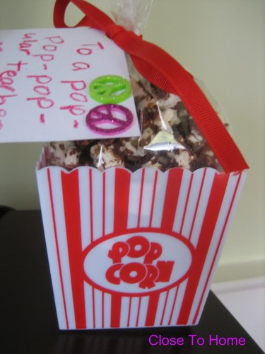 Popcorn Valentine's Day Gift Idea and Recipes