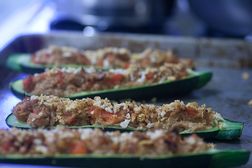Zucchini Boats with Tuna
