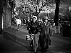 Old ladies (sjmgarnier) Tags: street ladies people blackandwhite usa sun walking newjersey women december shadows sunny sidewalk princeton portfolio nassau oldwomen sunnyday 2010 oldladies nassaustreet twoladies newjerseyusa princetonnewjersey bwstreetphotography nassaustreetprinceton princetonnewjerseyusa