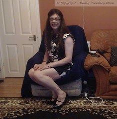 Sept 2016 (emilyproudley) Tags: crossdresser cd tv tvchix tranny trans transvestite transsexual tgirl tgirls convincing dress feminine girly cute pretty sexy transgender glasses xdresser highheels gurl hosiery tights