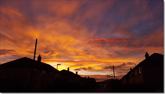 Sunset, September 27th 2016 (Bristol RE) Tags: sunset cloud clouds skies sky huntingdon avenueroad