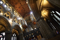 Inside Glasgow cathedral (43) (dddoc1965) Tags: dddoc davidcameronpaisleyphotographer glasgow cathedral necropolis landmark scotland october 7th 2016 cloudy precinct autumn yellow trees windows ceiling stone arcitech flags kenny game thrones