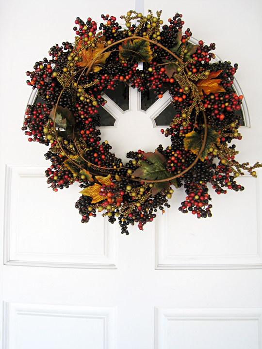 fall wreath+thanksgiving wreath