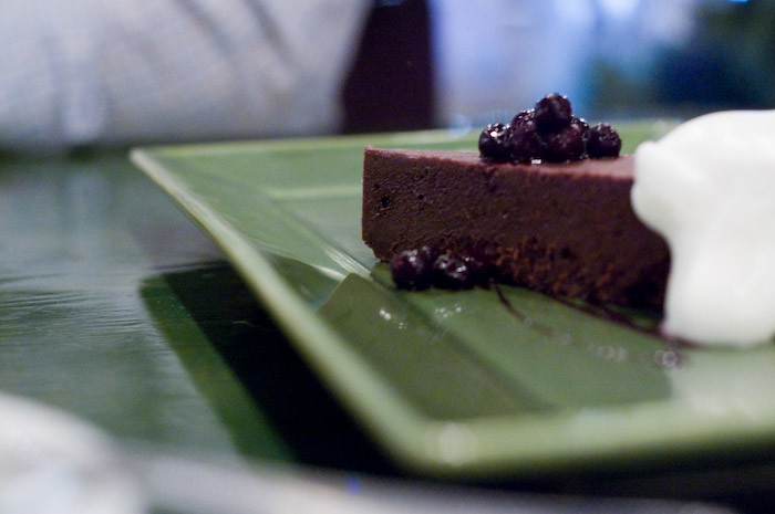 La Medusa. Theo's chocolate espresso tort. Unbelievably good.
