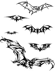 BAT (Black Crown . tribal) Tags: white black art branco tattoo dark design arte bat tribal preto illustrative e tatoo desenho ilustro escurotribal