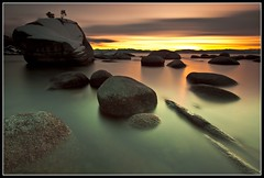 Bonsai Rock Study #5 - Lake Tahoe, Nevada, USA (Rich Capture) Tags: california longexposure sunset lake rocks nevada laketahoe explore boulders frontpage inclinevillage northlaketahoe bonsairock