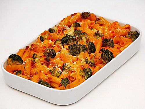 pasta zucca broccoli e scamorza