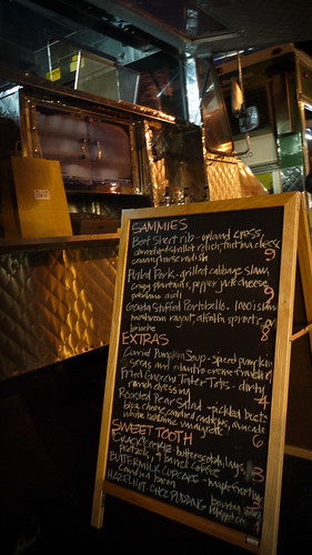 menu at Ryan Scott's 3-SUM-EATS food truck, OTG HAIGHT