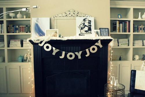 Mantel at Christmas...