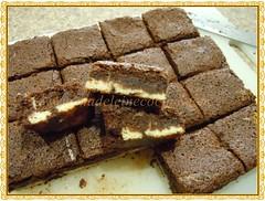 Cortando los brownies