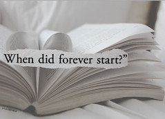 Day 5/365 ~ When Did Forever Start? (Amanda Mabel) Tags: white start photoshop canon fire book words bed bedroom day heart quote 5 text games suzanne pale hunger catching page when forever fold 365 bent did collins turning trilogy peeta everdeen katniss mockingjay mellark amandamabel whendidforeverstart