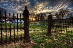 Cemetery Sunrise ((c.jones)) Tags: urban cemetery grave graveyard virginia roanoke nik hdr phototools exposureroanoke