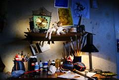"El Estudio de ""EmE"" (David A Córdova M) Tags: light color luz studio photography photo foto arte shot picture estudio fotografia muppet deco dibujo amateur pintura shortfilm peluches pinceles titeres dubujo davidcordova deividcordova"