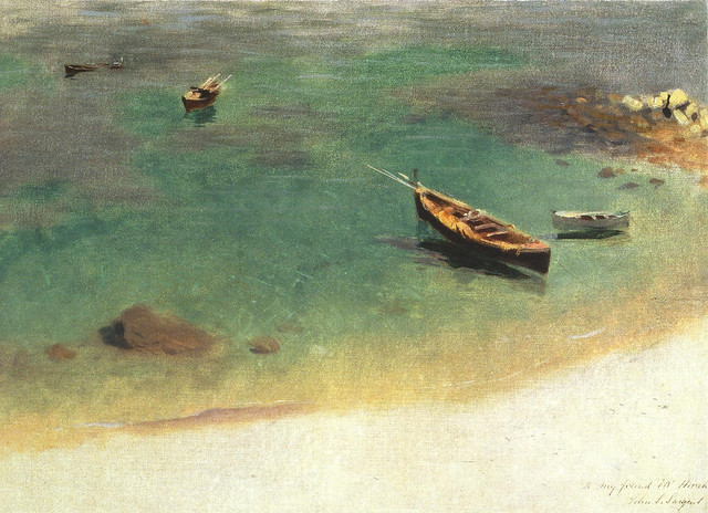 A Boat in the Waters off Capri, John Singer Sargent, 1878
