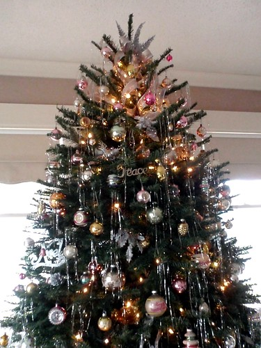 My Gold Silver Pink Green Christmas Tree