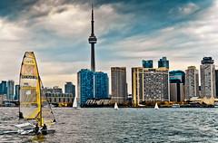 Windy City (syncros) Tags: toronto ferry island boat cityscape wind catamaran lx5