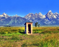 Outhouse with a New Roof, But Still No Door (NikonKnight) Tags: nationalpark toilet teton outhouse wy privy tetonnp nexttothatfamousbarn respectfullysubmitted