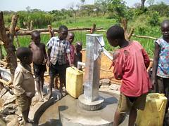 Kids at the pump