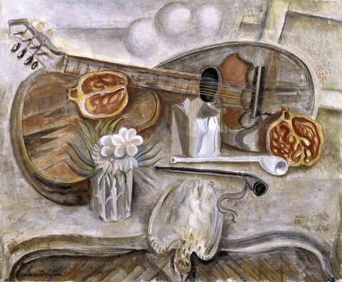 Masson, Andre (1896-1987) - 1922 Pedestal Table in the Studio (Tate Gallery, London)