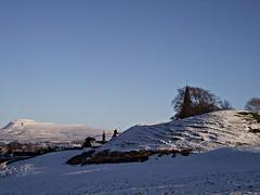 Motte and Bailey Castle, Burton-in-Lonsdale (Lune Rambler) Tags: heritage history archaeology threepeaks romans normans yorkshiredales ingleborough wapentake burtoninlonsdale platinumheartaward motteandbaileycastle lunerambler ewecross