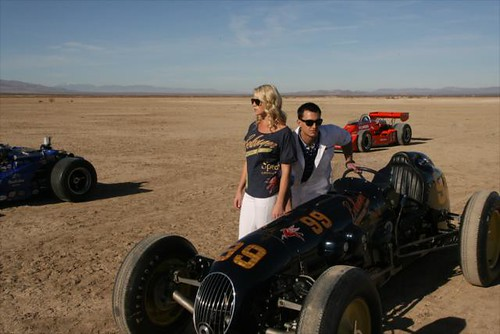 Katie Osborne and Graham Rahal during the IZOD shoot