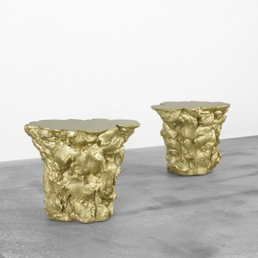 gold stools tables