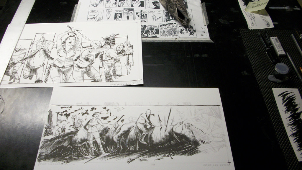 Desk Shot by Kevin Mellon