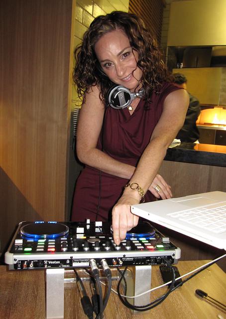 DJ Casey Lynn spinning the tunes