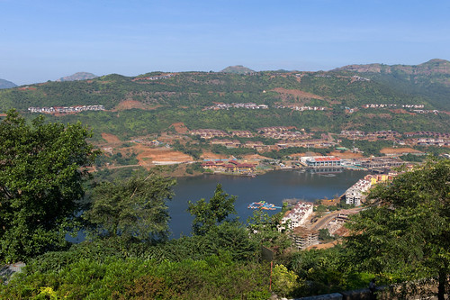 View from my hotel room in Lavasa