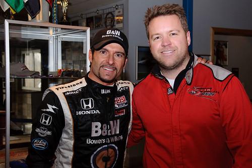 Alex Tagliani after racing go-karts with IndyCar fans