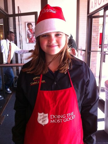 T volunteering for Salvation Army