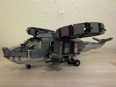 Dragonfly 2 TDF  prototype (Babalas Shipyards) Tags: scale lego aircraft military helicopter minifig vtol ductfan