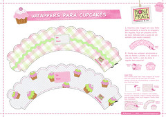 Wrappers para Cupcakes - Parte 01 (BoniFrati  bonifrati.com.br) Tags: cupcakes craft wrap felt kawaii feltro tutorial wrapper wrappers receitas bonecos tecido mensagem bolinhos mensageiro bonifrati cupcakewrapper forminhasfaavocmesmo