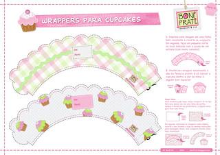 Wrappers para Cupcakes - Parte 01